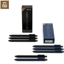 Youpin KACO 0.5mm xiaomi Mi imza kalem Gal mürekkep pürüzsüz yazı dayanıklı İmza siyah dolum 10 adet/grup