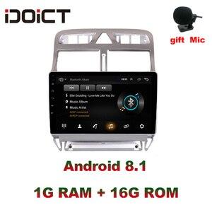 Image 1 - IDOICT אנדרואיד 8.1 2.5D DVD לרכב נגן ניווט GPS מולטימדיה עבור פיג ו 307 307CC 307SW רדיו 2002 2013 רכב סטריאו