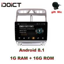 Idoict Android 8.1 2.5D Auto Dvd Speler Gps Navigatie Multimedia Voor Peugeot 307 307CC 307SW Radio 2002 2013 Auto stereo