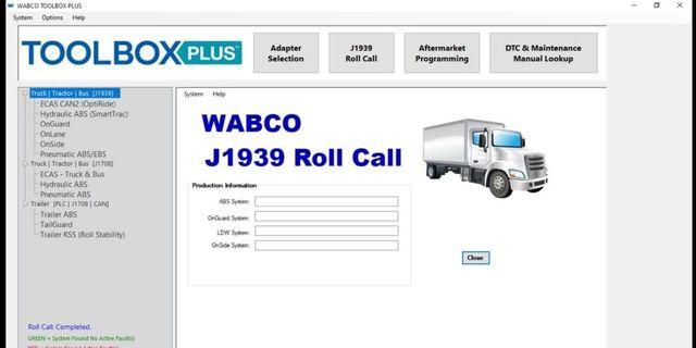Wabco Meritor ארגז כלים בתוספת 13v + ECAS + סדק