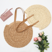 2020 Woven Rattan Bag Round Straw Bag Beach HandBags Women Hollow Handmade Messenger Crossbody Shoulder Bags