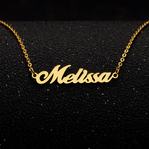 Gold Custom Any Name Necklace
