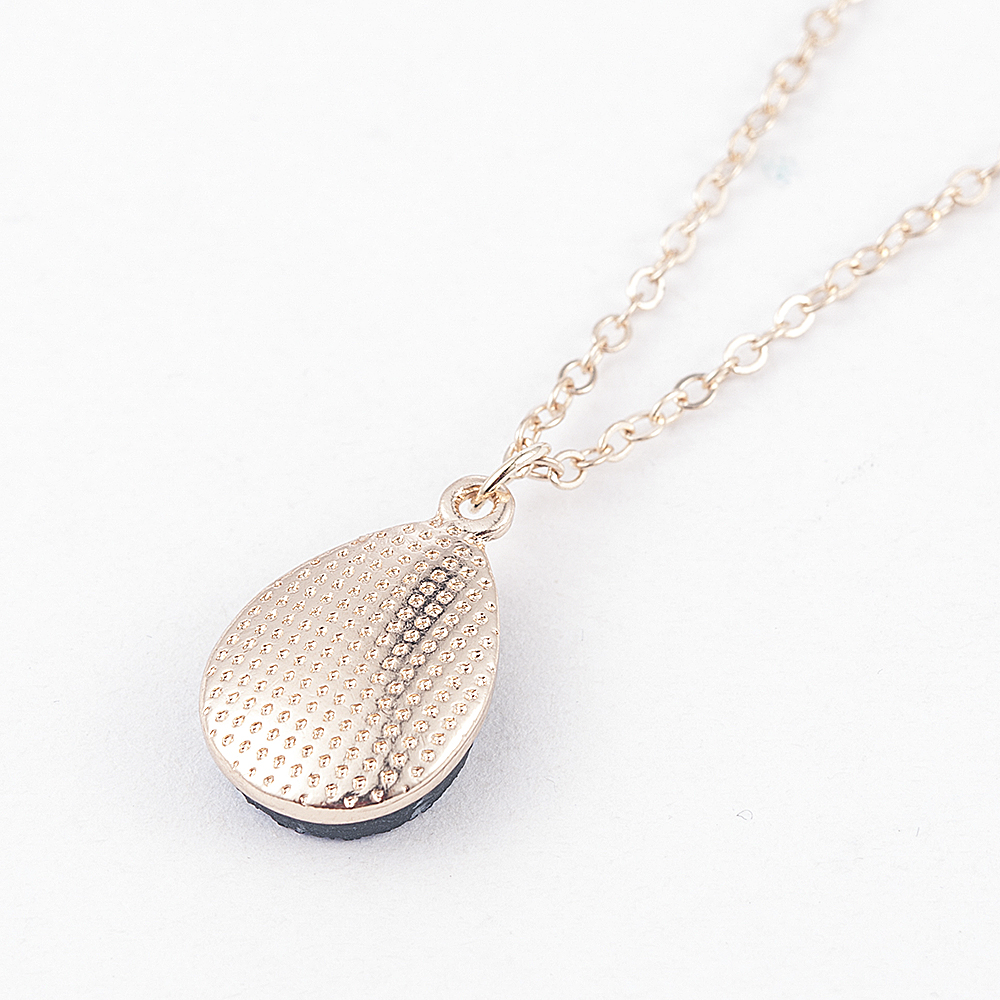 Collier Femme Charm Drop shape Stone Necklaces Pendants for Women Crystal Bud Necklace Fashion Jewelry Kolye Collares in Pendant Necklaces from Jewelry Accessories