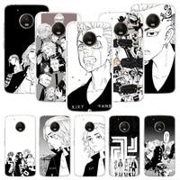 Tokio Revengers funda de teléfono Anime para Motorola Moto G9 G8 G7 G6 G5 E6 E5 E4 Plus jugar de una acción Macro Coque cubierta Capa