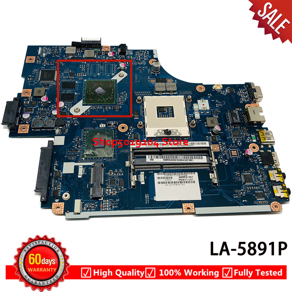 MBR5402001 MB.R5402.001 <font><b>NEW70</b></font> <font><b>LA</b></font>-<font><b>5891P</b></font> Mainboard for ACER 5741 5741G 5742 5742G Laptop Motherboard image