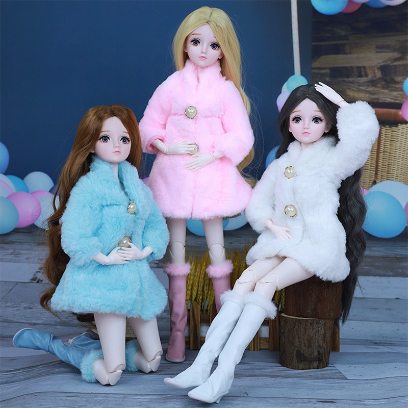 New Beautiful Handmade Doll Set Clothes and Boots 60cm Fashion Casual Suit for 1/3 SD Doll Coat Accessories Girls Kids Gifts|Dolls| - AliExpress