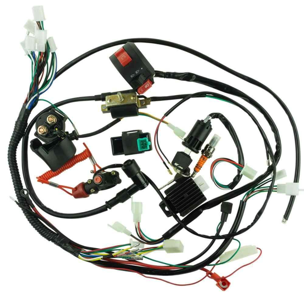 full electrics wiring harness cdi ignition coil spark plug 50cc 70cc 110cc  125cc motocross atv quad bike buggy gokart| | - aliexpress  www.aliexpress.com