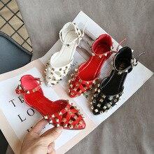 Shoes Girls Princess Sandals Korean-Design Kids Fashion Summer Rivets New-Arrival