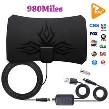 4K Digital HDTV Aerial Indoor Amplified Antenna 980 Miles Range HD1080P DVBT2 Freeview TV Local Channels Broadcast