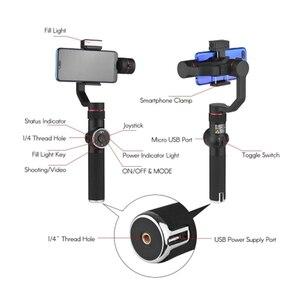 Image 5 - Sıcak 3C AFI V5 taşınabilir 3 eksenli el Gimbal cep telefonu Video sabitleyici ile kısılabilir doldurun işık için 6 inç Smartpho