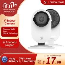 YI 1080p sistema di sorveglianza di sicurezza IP per interni con telecamera domestica con visione notturna per casa/ufficio/bambino/tata/Monitor per animali domestici YI Cloud