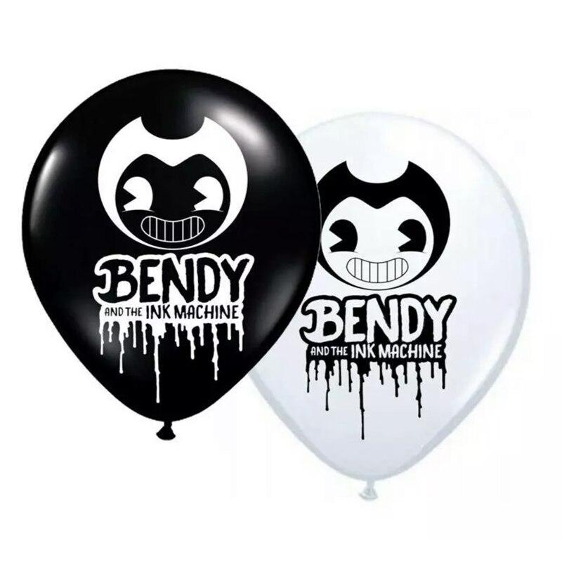 10 шт 12 дюймов Bendyed воздушные шары игровую тематику латексный воздушный шар детского дня рождения с днем рождения черно-белые вечерние украш...