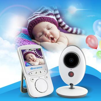 2.4 G Wireless Baby Care Device 2.4inch Video Baby Monitor With Night Vision Camera Two Way Audio System Temperature EU Plug