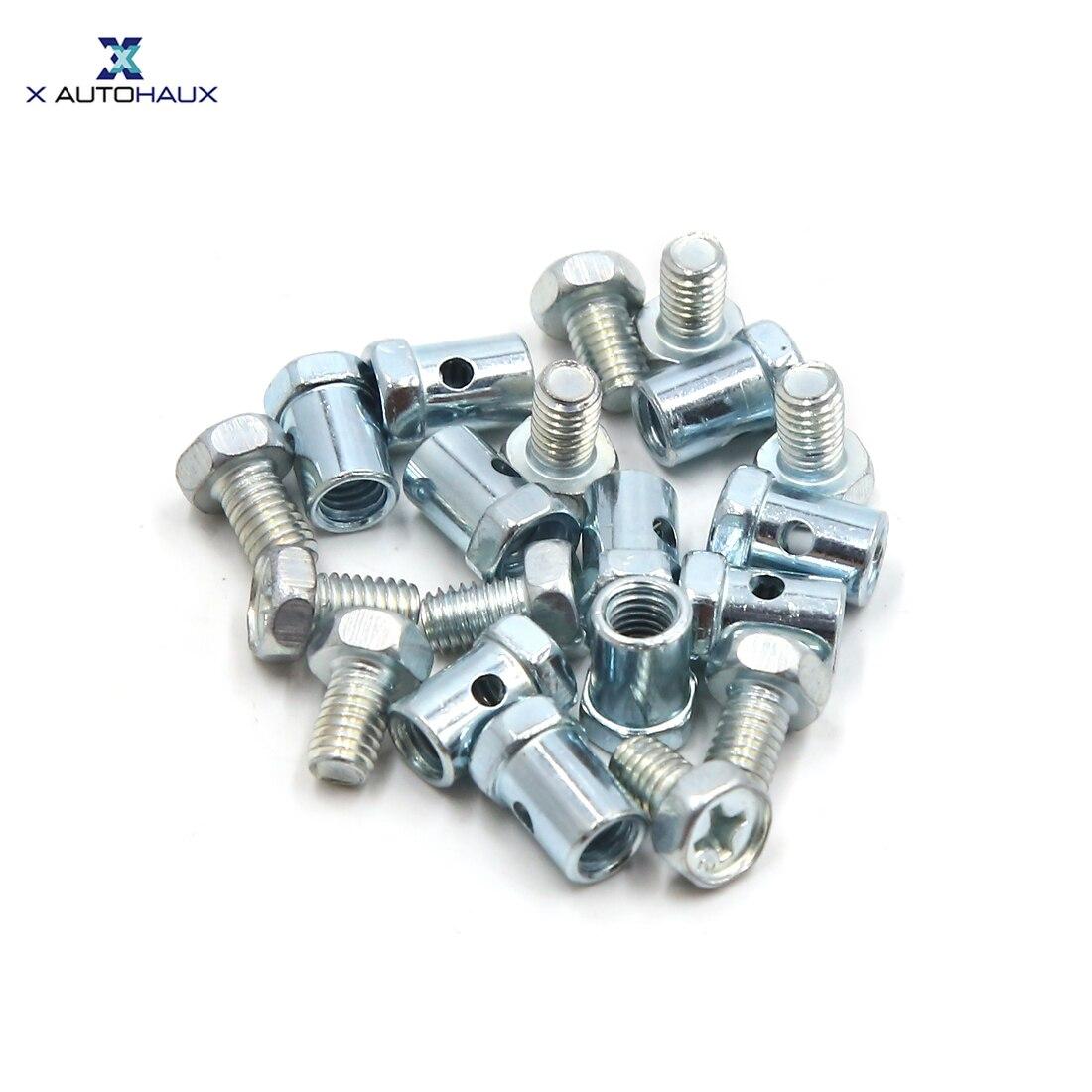 Vis à mamelon argent sans soudure   X Autohaux, fil de frein Dia, fil de frein, pièces 20 pièces 5mm 15x8mm pour moto
