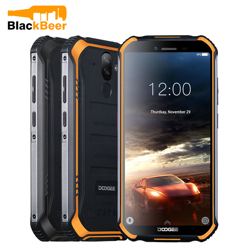 DOOGEE S40 Lite 5.5 Inch SmartPhone Rugged IP68 Cellphone 2GB 16GB Quad Core Android 9.0 Mobile Phone 4650mAh Fingerprint