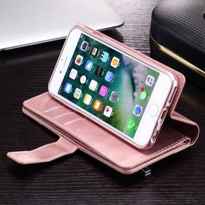 Image 5 - Cho iPhone X Xr Xs Max 12 Mini Vintage Dây Kéo Ví Lật Giá Đỡ Da Cho iPhone 8 7 6 6S 6 Plus 5 5S SE Coque Capa