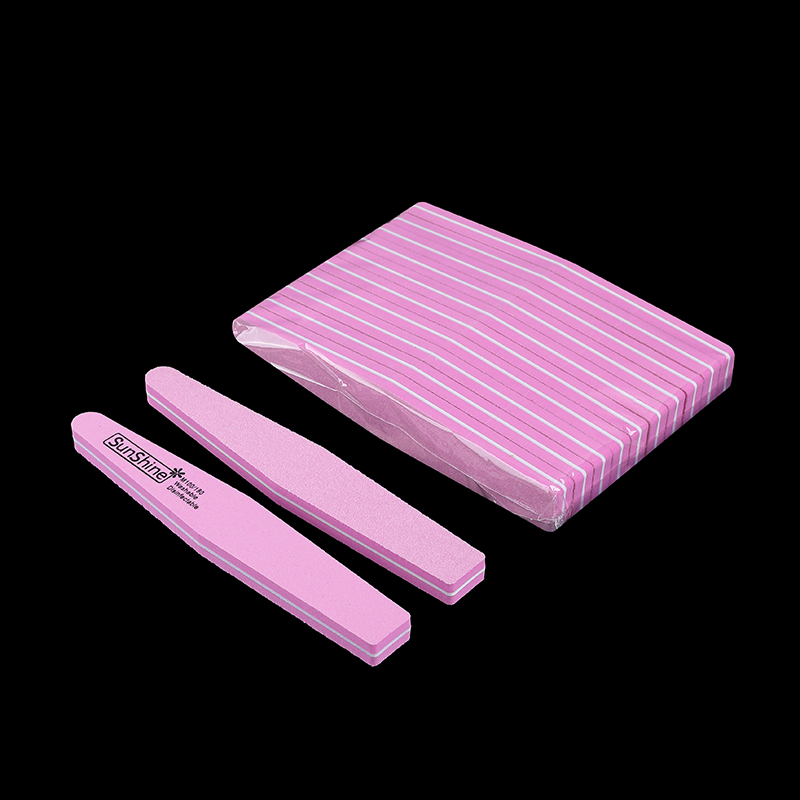1 sztuk gąbka pilnik do paznokci papier ścierny trymer bufor do paznokci w kostce do Manicure wapno a ongle 100/180 zmywalny polerowanie pilniczek do szlifowania