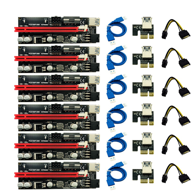 Riser-Adapter-Card Ver009 009S Power-Cable 8x16x-Extender Pci-E Sata Express To 1x4x