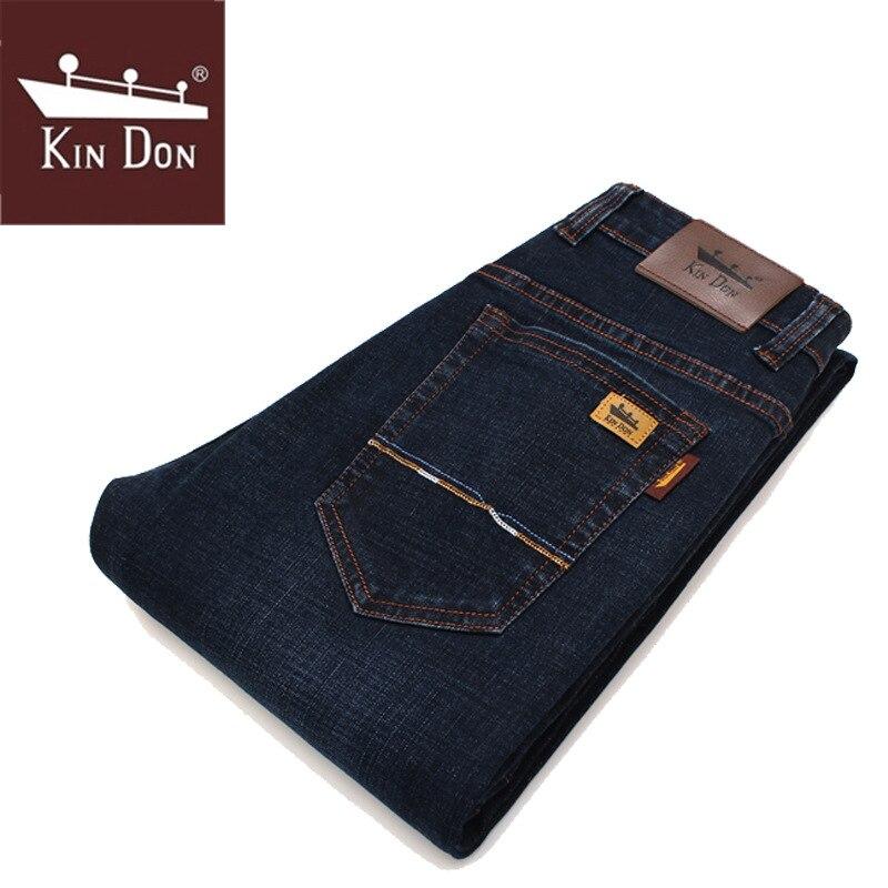 Spring MEN'S Jeans Slim Fit Straight-Cut Youth Men'S Wear Brand Jeans Men's Casual Business Long Pants
