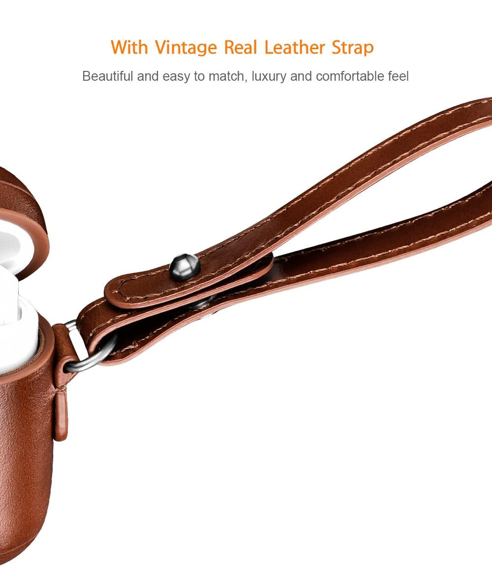 clássico real pulseira capa protetora para airpods