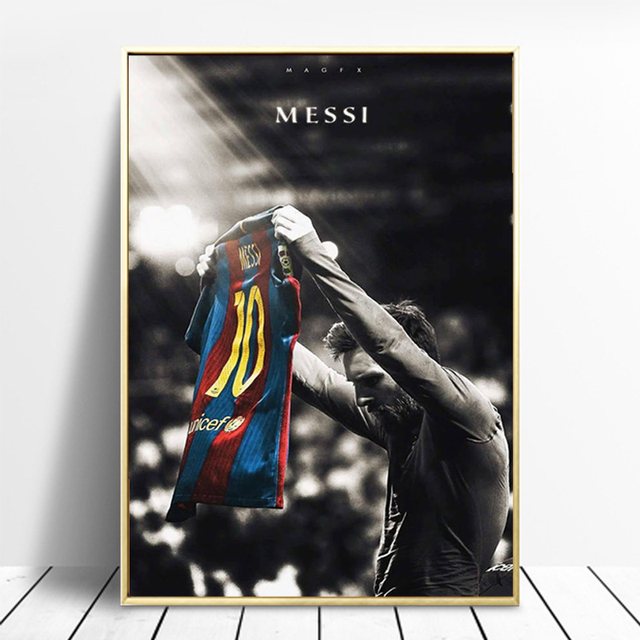 Football Sport Star Lionel Messi Retro Poster Prints Soccer Player Canvas Painting Room Wall Art Picture Home Decoration Cuadros 6