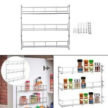 1х шкаф для специй, органайзер для шкафа, настенное крепление для двери, для хранения, кухонный стеллаж