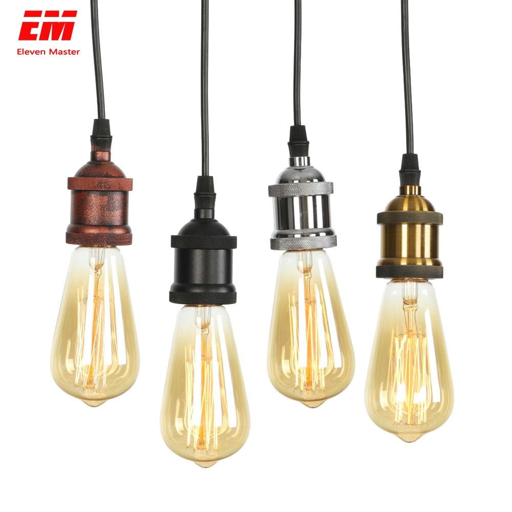 Retro Pendant Lamp Loft Aluminum Hanging Light Fixture E27 Bulbs Led Holder Vintage Pendant Lighting Industrial Lamp ZDD0004