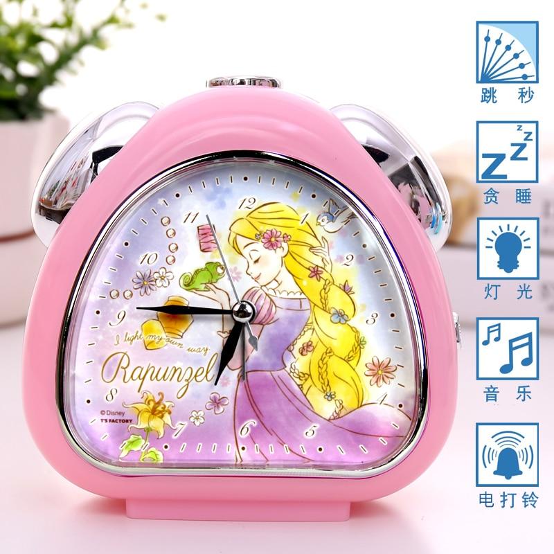 Дисней мультфильм принцесса прикроватная тумбочка будильник часы девушка спальня немой светящийся русалка милый сон маленький будильник часы