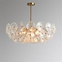 Скандинавское стекло Лофт Светодиодный Люстра Освещение спальня гостиная ресторан подвесная кухонная лампа светильники подвесной светил