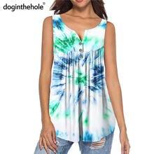 Женская Туника без рукавов doginthehole модная разноцветная