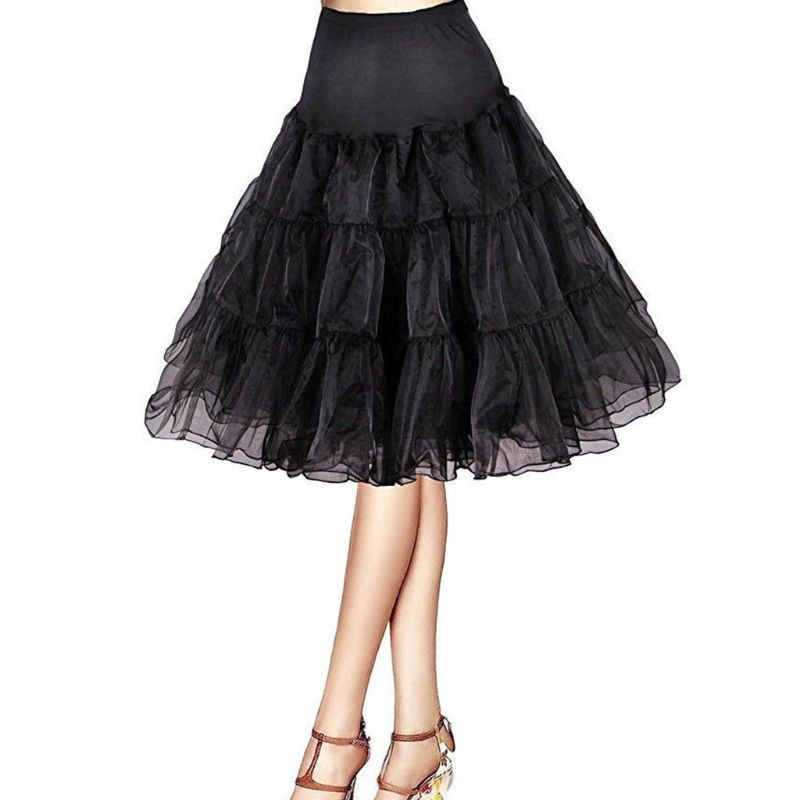 Bride Wedding Dress Petticoat Fashion Lady Women Long No Hoop Rock Ball Ballet Skirts Underskirt Slip Chemise