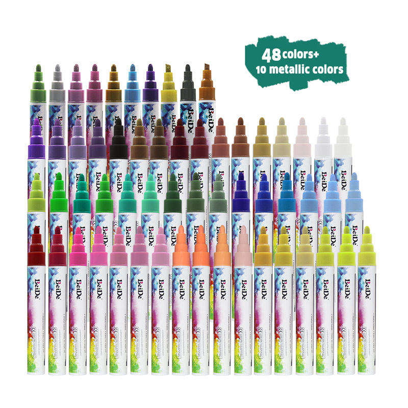 58pcs bright colors chalk marker, colored erasable liquid marker pen