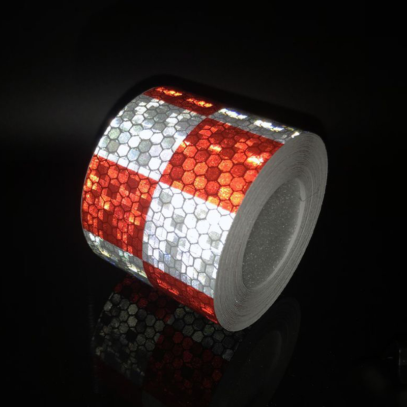 5cmx1m Reflective Material Tape Sticker Safety Warning Tape Reflective Film Car Stickers