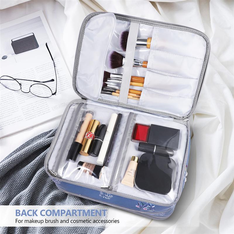 Etereauty 2pcs Makeup Brush Holder Bags