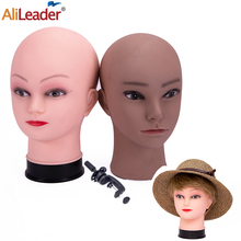 Alileader 2021 Cheap Wig Head Female Manequin Head For Wigs Exquisite Bald Model Head With Makeup Mannequins For Display Hat Wig