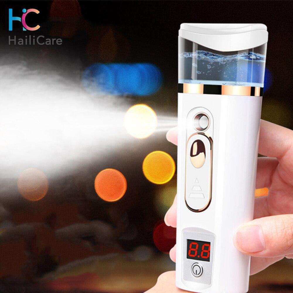 Ultrasonic Nano Facial Mister Face Nebulizer Cooler Skin Moisture Tester Analyzer Moisturizing Beauty Sprayer Skin Care Tool