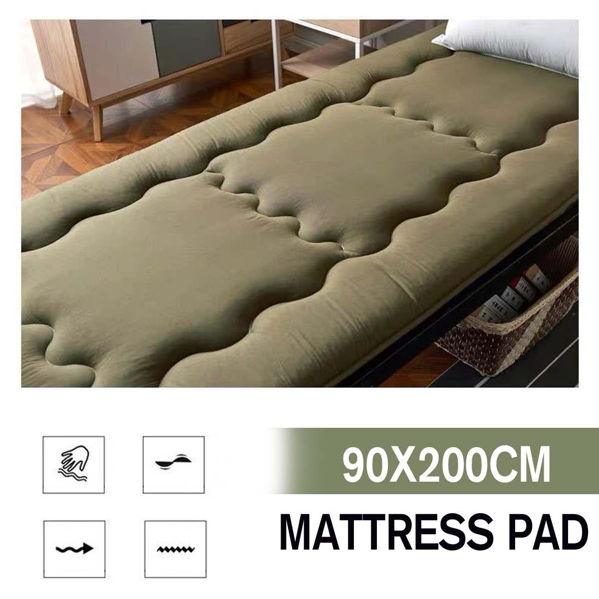 90x200cm Mattress Ergonomic Thickness Foldable Student Dormitory Mattresses Cotton Cover Tatami Single Bed Size