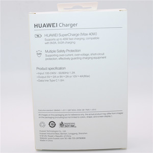 Image 5 - Huawei 40W Ladegerät Original 10V4A Kompressor EU Ladung adapter 5A USB typ c kabel für nova 5 5t 5 pro mate 30 pro p20 p30 pro