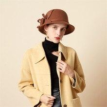 JAYCOSIN модная винтажная Женская шерстяная фетровая шляпа, вечерние шляпы во французском английском стиле, женская шапка, шляпы, подарок на день рождения 1212