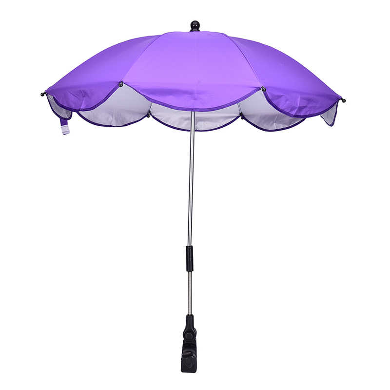Adjustable Kids Stroller Umbrella Shade Canopy Covers Baby Sun Umbrella Parasol Buggy Pushchair Pram Stroller Accessories