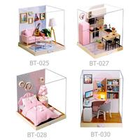 1set DIY Dollhouse Children Toys Miniature Model Parent Child Interaction Fashionable for Children Gifts Decompression Toys