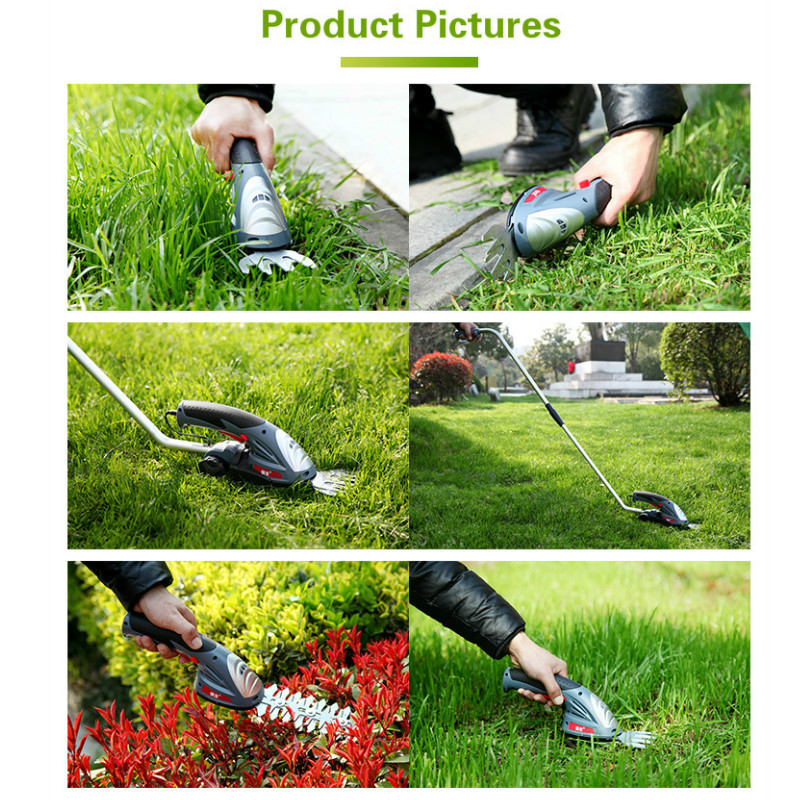 Tools : 3 6V Electric Grass Trimmer 2 In 1 Lithium-ion Battery Cordless Garden Tools Hedge Trimmer Rechargeable Hedge Trimmers