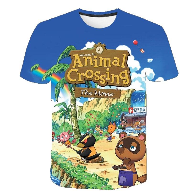 Cute Girls t shirt Korea Ulzzang  Animal 3D Fashion Summer Cartoon T-Shirt Children Shirts Girls /Boy Casual Children's Clothes