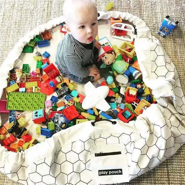 140CM bébé jeu tapis de jeu GYM Portable multifonctionnel jouet sac de rangement pour enfants intérieur jeu tapis tapis couverture enfants cadeau