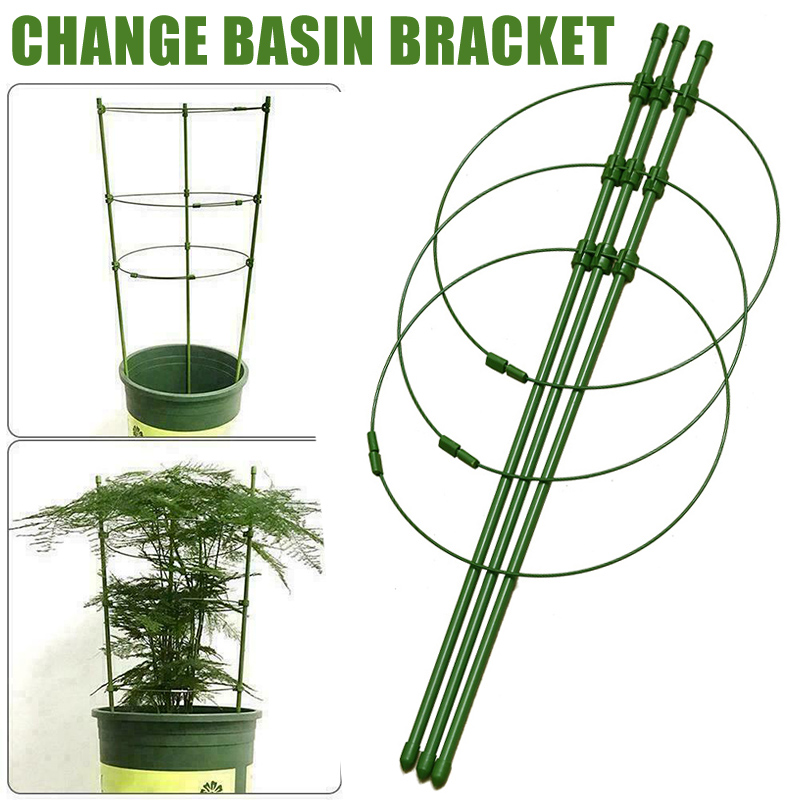 Climbing Plant Support Cage Garden Trellis Flowers Stand Rings Tomato Support  YU-Home