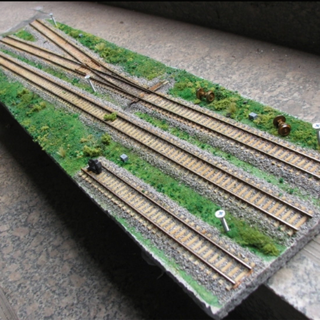 1:87 HO Scale Micro Train Construction Scene Sand Table Display Stand Model
