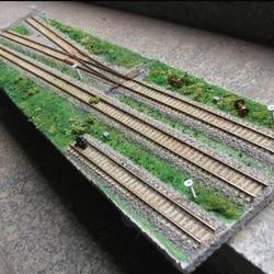 1: 87 HO Skala Micro Zug Bau Szene Sand Tabelle Display Stand Modell