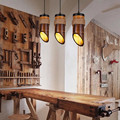 Винтажная Лофт стиль пеньковая веревка бамбуковая трубка Droplight светодиодный подвесной светильник для столовой подвесной светильник Промы...