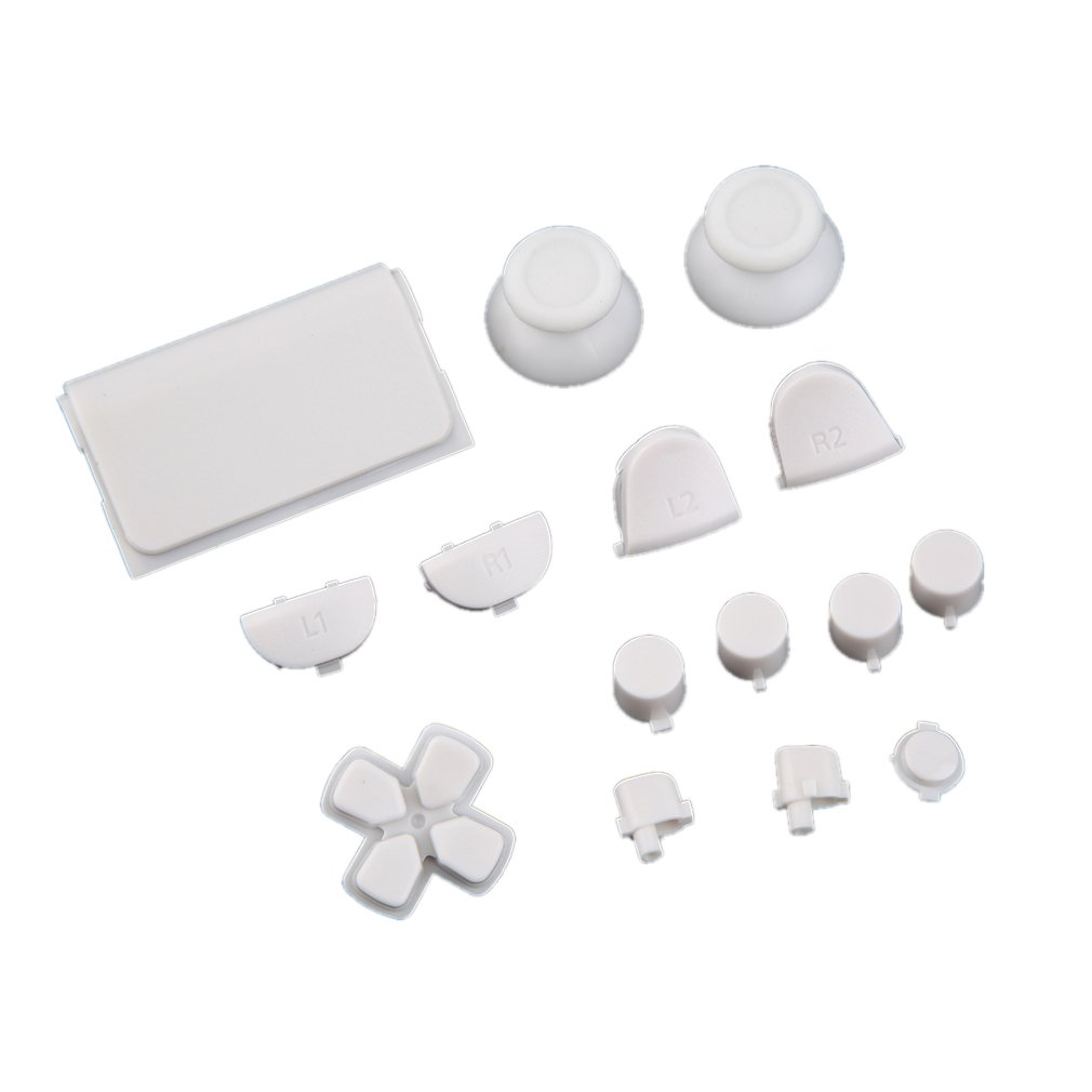 White Gamepad Controller Buttons Durable Replacement Buttons For Sony For PS4 Video Game Console Accessories
