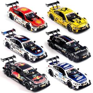 Image 3 - 1:32 pressofuso in Lega Modello di Auto Giocattoli Per Bmw M4 M8 Con Tirare Indietro La Funzione di Luce E Musica di Simulazione auto giocattoli per il Regalo dei bambini